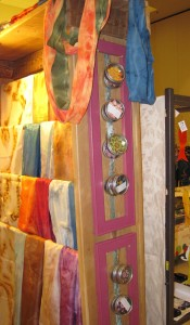 Display unit with Scarves and Pin Kits