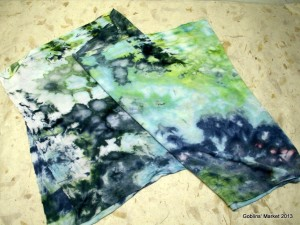 Ice dyed rayon jersey scarf