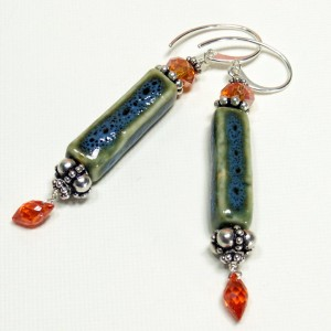 Orange & Turquoise Earrings