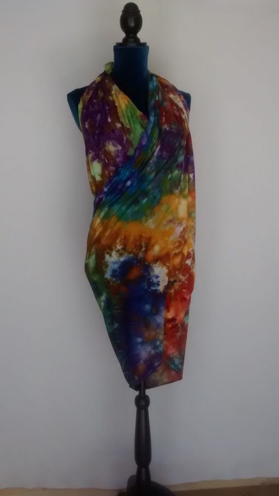 Goblins' Market Ice Dyed Rayon Jersey wrap, wear as scarf, dress or skirt