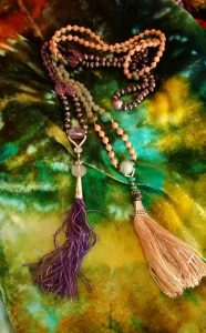 Sandalwood and Amethyst malas